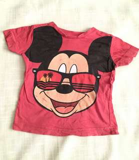 Charity Sale! Authentic Disney Baby Mickey Mouse Shirt Red Size 12-18 Months