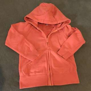 Uniqlo Sweater with Hood (Orange) Size 110