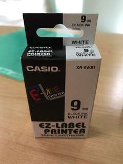 Casio ez-label printer tape cartridge 9 mm