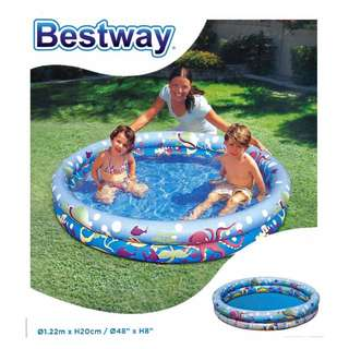 "48"" x 8"" Inflatable Children Splash & Play Pool RM 30.00 exc postage"