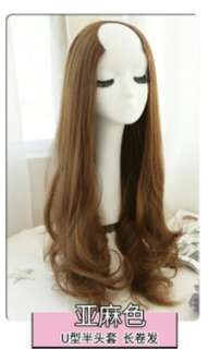 *No instock ! PO U shape clip on wavy ladies wig *waiting time 12days after payment is made *pm to order