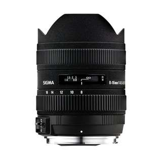 Sigma 8-16mm f/4.5-5.6 DC HSM Ultra-Wide Zoom Lens (Canon or Nikon Mount) Brand New