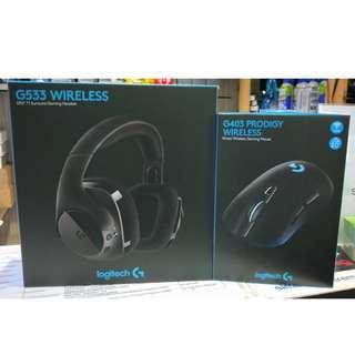 Logitech BUNDLE Promotion! G533 Wireless Headset + G403 Wireless Mouse @ $194 (U.P $388)