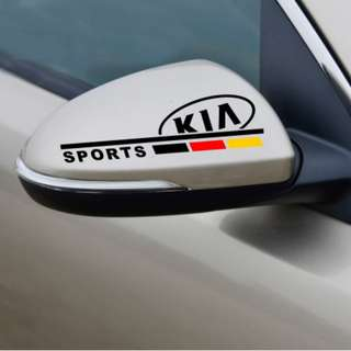 Kia k3 mirror sticker.