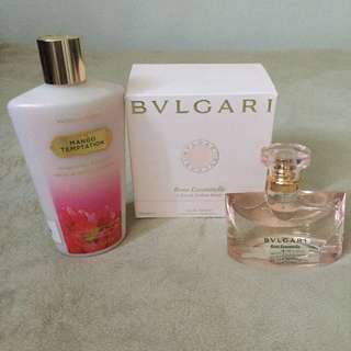 Bundle! Sale! Bvlgari Perfume and Victoria's Secret Lotion