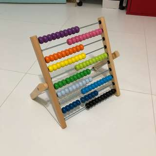 Wooden colorful play panel