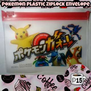 Pokemon Theme Red Ziplock Envelope Lootbag Filler Giveway Souvenir