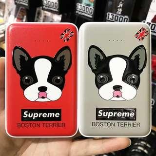 Supreme可愛卡通狗充電器12000mAh
