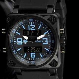 全新盒裝真品 形象廣告款 頂級軍規腕錶 超寬大錶帶 霸氣外洩