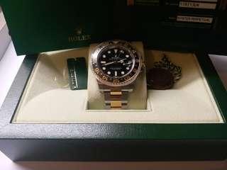 Rolex 116713ln GMT II 亂碼卡95新