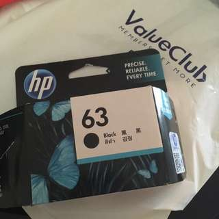 HP Printer Ink Cartridge (63 Black)
