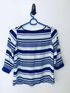 MEMO Blue & white stripes blouse