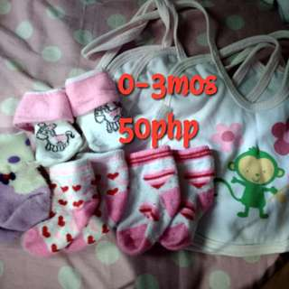 Infant socks and bib