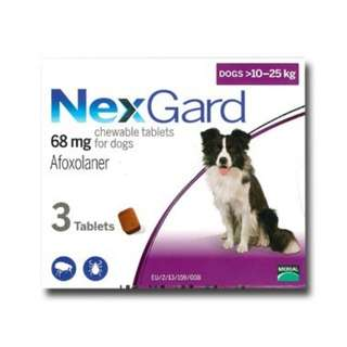 Preorder with Free Normal Mail - Nexgard (3 pieces) for Dogs between 10-25kg