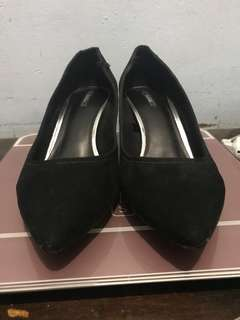Bershka Shoes Suede Chunky Heels
