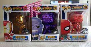 Chrome Avengers Infinity War Pop vinyls