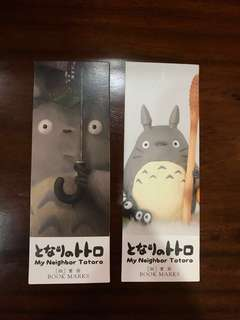 Cute totoro bookmarks (1 for $1, 2 for $1.50)