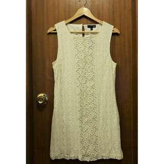 米白色Lace連身裙 (Cotton On)