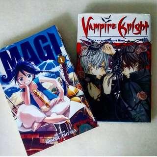 Vampire Knight & Magi manga