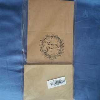 Thank you vintage rustic style kraft cards