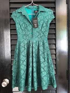 Doublewoot dark green dress