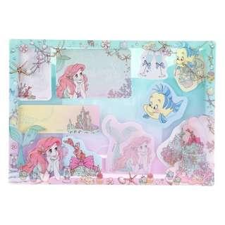 🇯🇵日本代購 迪士尼 Disney 美人魚 小魚仙 Ariel Memo Pad set