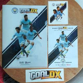Manchester City Goal Dx Plastic Folder and Stickers