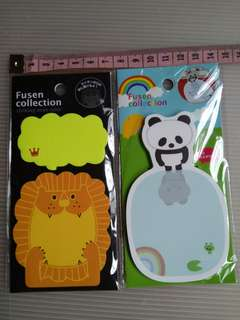 BNIP Fusen Collection Post It Notes / Stickypad cum bookmark