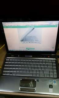 hp dv4 1050tx notebook without battery and harddisk
