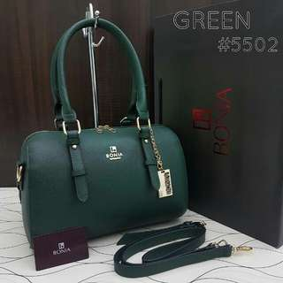 Bonia Elegant Sophia Boston Bag Green Color