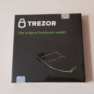 Trezor Bitcoin Cryptocurrency Wallet Sealed (IT FAIR SALE)