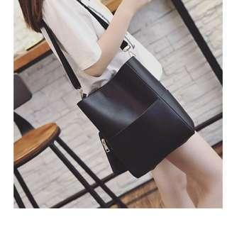 PROMO Black tote sling bag