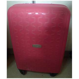 Pierce Cardin  Pink luggage cabin luggage travel luggage-Handle grip broken