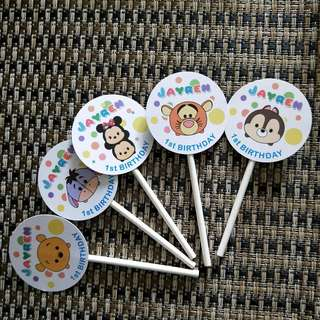 Personalize tsum sum Cupcake Toppers