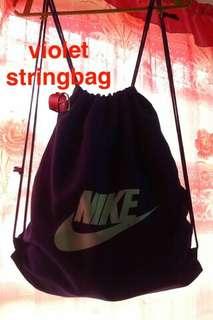 Violet String bag (Unisex)