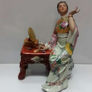 Old China porcelain statue from '红楼梦' H30cm