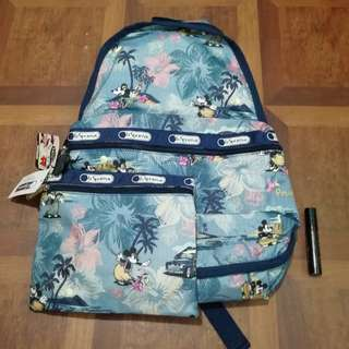 Backpack with pouch