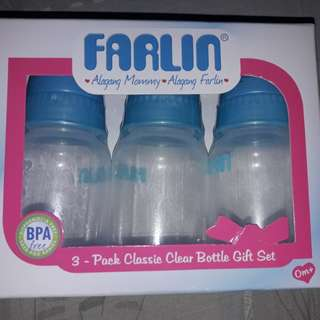 Farlin 3 pack clear bottles