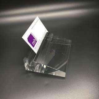 Crystal Name Card Holder ( Engrave )