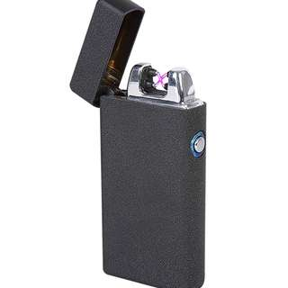 Pulse Arc Electronic Lighter (Double Arc) - Model 007 - Polished Silver/Black/Gold