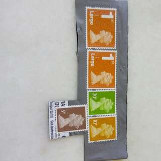 UK Stamps Used Unwashed