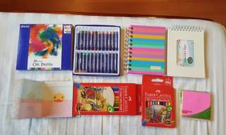 Oil Pastel, Color Pencil, Notebooks, Sticky Note
