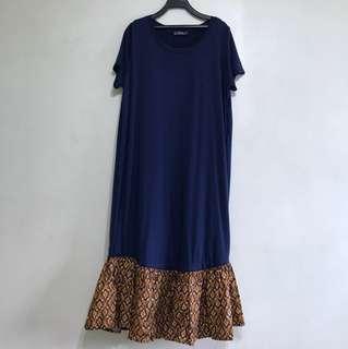 Handmade batik peplum midi dress