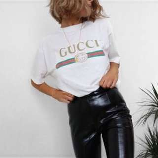 Gucci T Shirt Women's Size 10 Belt And Bag
