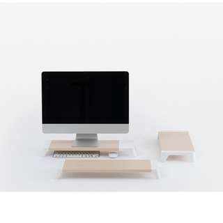 Monitor Stand for IMac or PC, (Made in Korea) PALLO Woody with Fast USB Charging Hub 多功能電腦支架