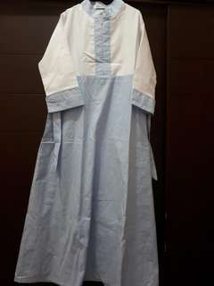 Gamis Set Kids Soft Blue