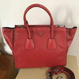 Prada twin pockets bag