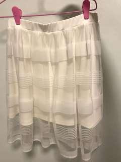 🦄Stradivarius white skirt