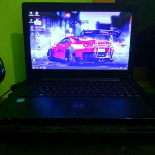 Asus x453 black non minus murah good condition