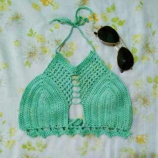 Tasha Halter Corset Crochet Top
